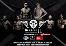 VENATOR Fighting Championship Live on Pay per View, on MMATV.com on the 12th of December 2015